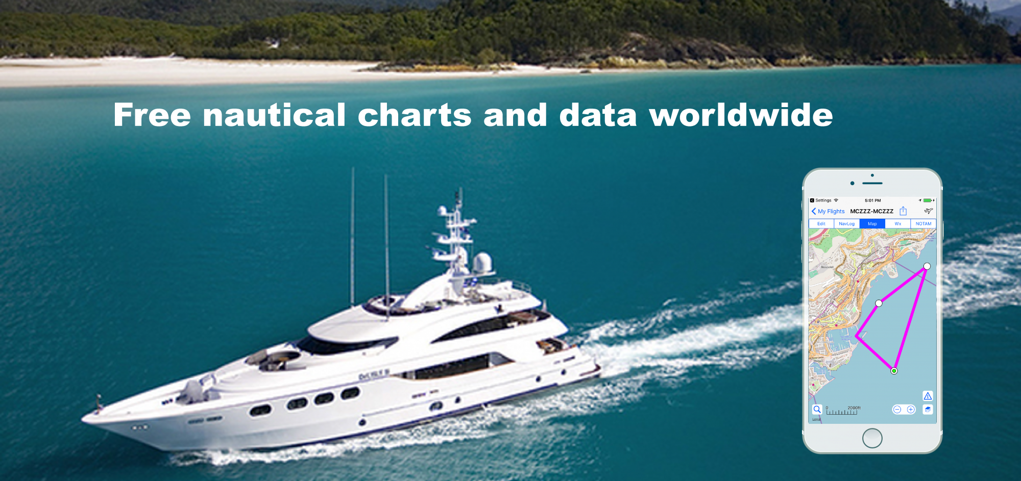 Free nautical charts and data worldwide